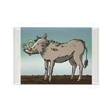 Lonely Warthog Rectangle Magnet