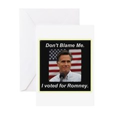 I Voted For Romney Greeting Card