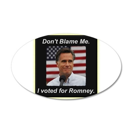 I Voted For Romney 20x12 Oval Wall Decal