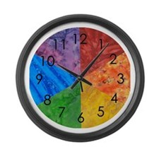 Cool Children art Large Wall Clock