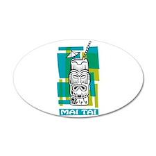 Mai Tai Tiki Cocktail Wall Sticker
