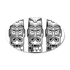 Three Tiki Statues Wall Decal