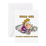 HOLD ON GOLD.png Greeting Cards (Pk of 10)