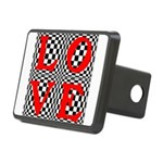 Psychedelic LOVE IV.jpg Rectangular Hitch Cover