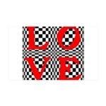 Psychedelic LOVE IV.jpg 35x21 Wall Decal