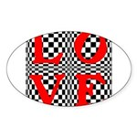 Psychedelic LOVE IV.jpg Sticker (Oval 10 pk)