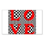 Psychedelic LOVE IV.jpg Sticker (Rectangle)