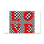 Psychedelic LOVE IV.jpg Rectangle Car Magnet