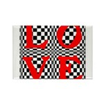 Psychedelic LOVE IV.jpg Rectangle Magnet (100 pack