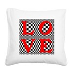 Psychedelic LOVE IV.jpg Square Canvas Pillow