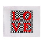 Psychedelic LOVE IV.jpg Throw Blanket