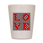 Psychedelic LOVE IV.jpg Shot Glass