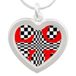 Psychedelic LOVE IV.jpg Silver Heart Necklace