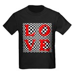 Psychedelic LOVE IV.jpg Kids Dark T-Shirt