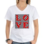 Psychedelic LOVE IV.jpg Women's V-Neck T-Shirt
