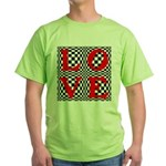 Psychedelic LOVE IV.jpg Green T-Shirt