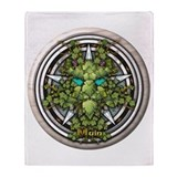 Vine Celtic Greenman Pentacle Throw Blanket