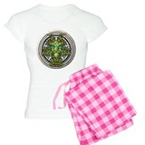 Vine Celtic Greenman Pentacle pajamas