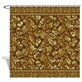 Metallic Gold Brown Vintage Floral Damasks And La