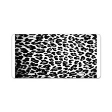 Cute Leopard Aluminum License Plate