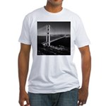 GG Bridge from Battery Spencer Fitted T-Shirt
