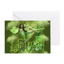 La Fee Verte In Glass Collage Greeting Card