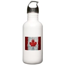Canadian Abstract Poster Sports Water Bottle