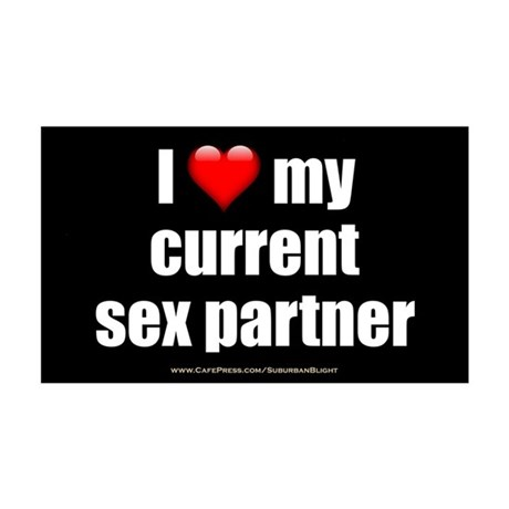 """Love Current Sex Partner"" 35x21 Wall Decal"