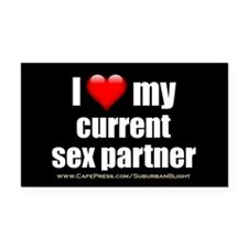 """Love Current Sex Partner"" Rectangle Car Magnet"