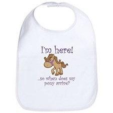 Unique I want a pony Bib