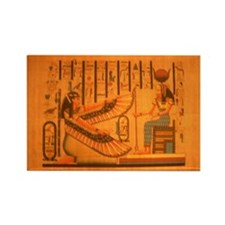 MAAT AND AUSET (ISIS) Rectangle Magnet (100 pack)