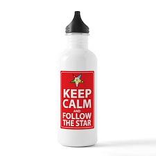 Keep Calm Follow the Star Water Bottle