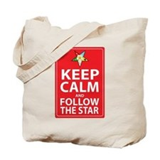 Keep Calm Follow the Star Tote Bag