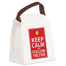 Keep Calm Follow the Star Canvas Lunch Bag
