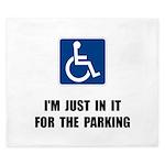 Handicap Parking King Duvet