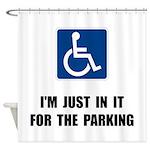 Handicap Parking Shower Curtain