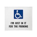 Handicap Parking Throw Blanket