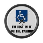 Handicap Parking Large Wall Clock