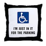 Handicap Parking Throw Pillow
