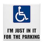 Handicap Parking Tile Coaster