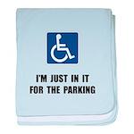 Handicap Parking baby blanket