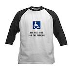 Handicap Parking Kids Baseball Jersey