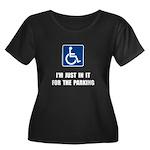Handicap Parking Women's Plus Size Scoop Neck Dark
