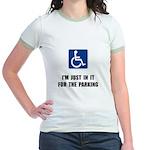 Handicap Parking Jr. Ringer T-Shirt