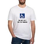 Handicap Parking Fitted T-Shirt