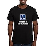 Handicap Parking Men's Fitted T-Shirt (dark)