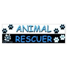 I [Love] MY RESCUE (Blue) Bumper Sticker