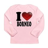 I Heart Borneo Long Sleeve Infant T-Shirt