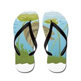 largemouth bass jumping Flip Flops