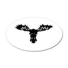Moose Head 35x21 Oval Wall Decal